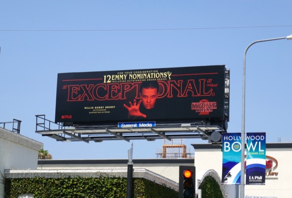 Millie Bobby Brown Stranger Things 2 Emmy nominee billboard