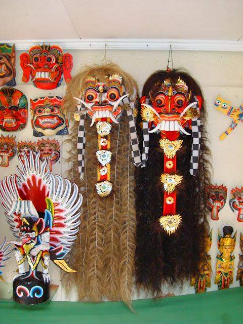 Изображение масок Индонезии, остров Бали