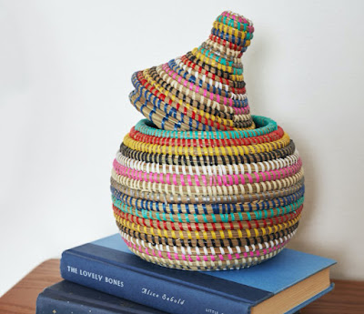 colorful lidded basket