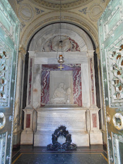The tomb of Dante Alighieri at the Church of San Pier Maggiore in Ravenna
