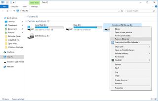 Sử dụng BitLocker trong Windows 10 mã hóa các phân vùng ổ đĩa và các thiết bị lưu trữ gắn ngoài