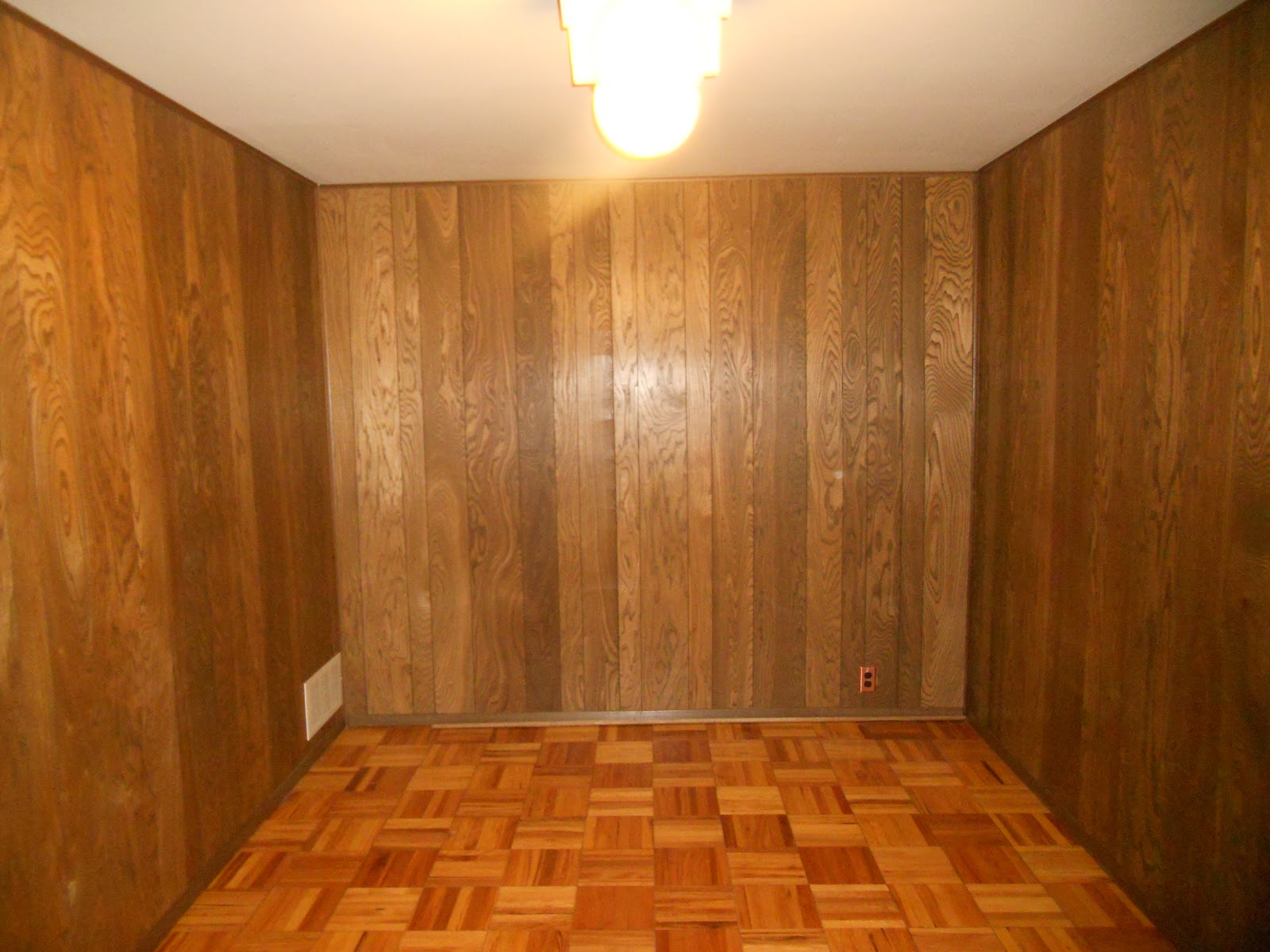 My full thyme life challenge accepted How to cover old wood paneling