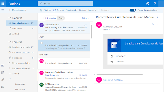 Un truco para probar la beta del nuevo Outlook.com