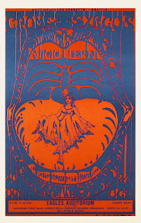October 20 & 21, 1967 John Moehring. Offset litho poster. The Crome Syrcus, The Magic Fern, Lux Sit & Dance (light show) Eagles Auditorium