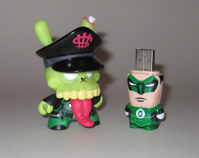DC Comics x Mimoco Hal Jordan Green Lantern Mimobot USB Flash Drive and MAD Zombie Biker 3 Inch Dunny