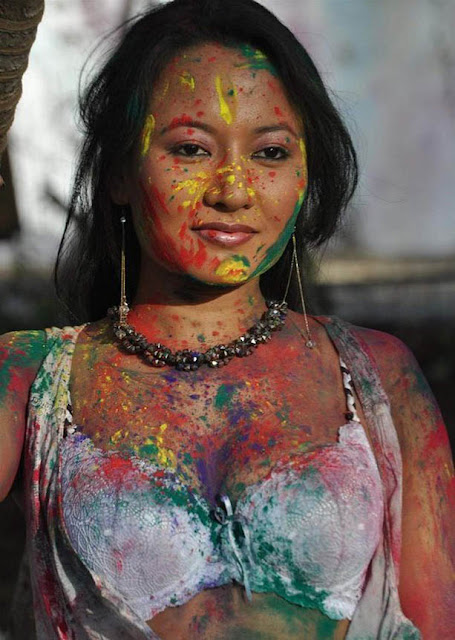 Indian bollywood actress pooja basu s spicy holi latest picture  gallery