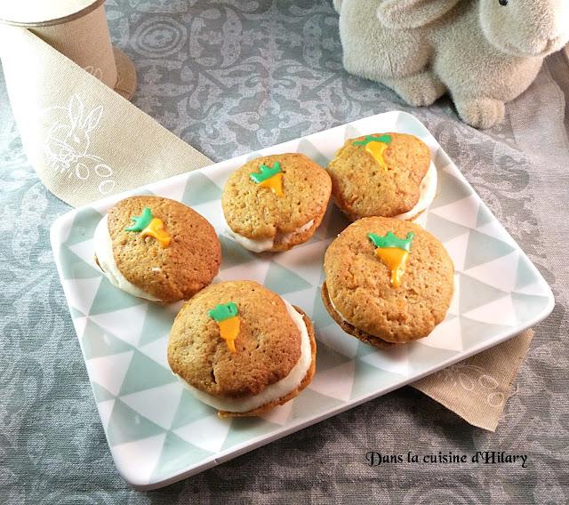 Whoopie-pies gourmandes à la carotte - Dans la cuisine d'Hilary
