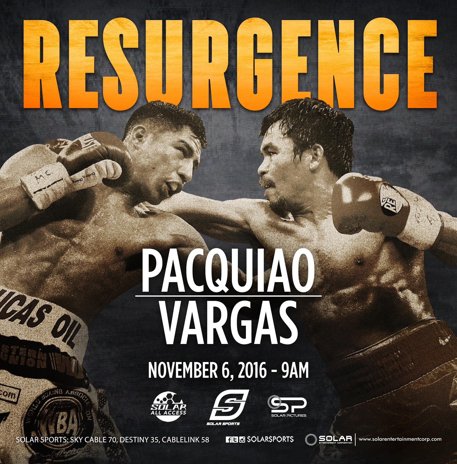 Pacquiao vs Vargas on Solar Sports