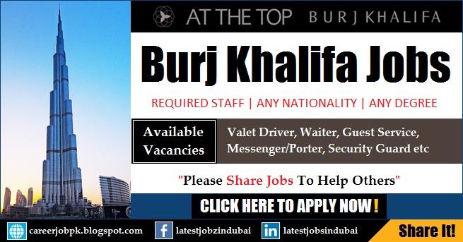 Burj Khalifa Careers and Jobs in Dubai