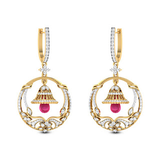 Hoop Jhumkas - Zaamor Diamonds