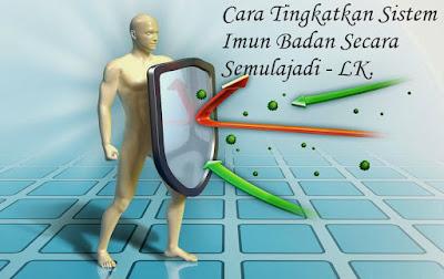 Cara untuk kuatkan sistem imun badan secara semulajadi.