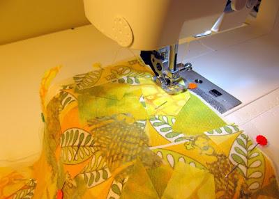 mixed media fabric art sewing