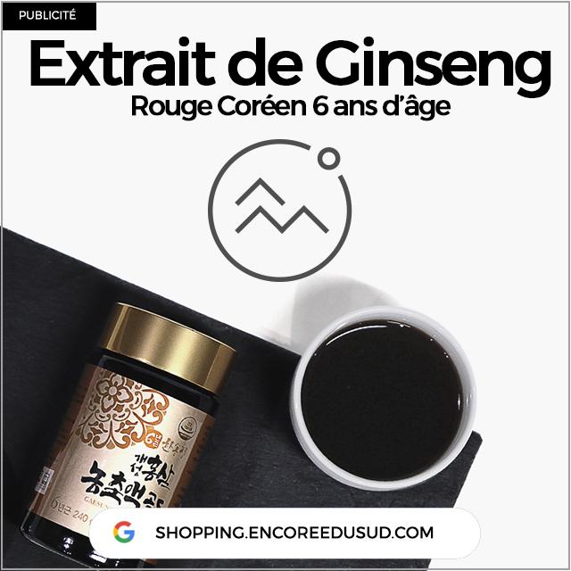 ginseng extrait rouge coréen acheter