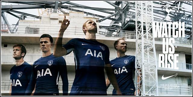 Tottenham Hotspur Away Jersey Official 17-18 Nike