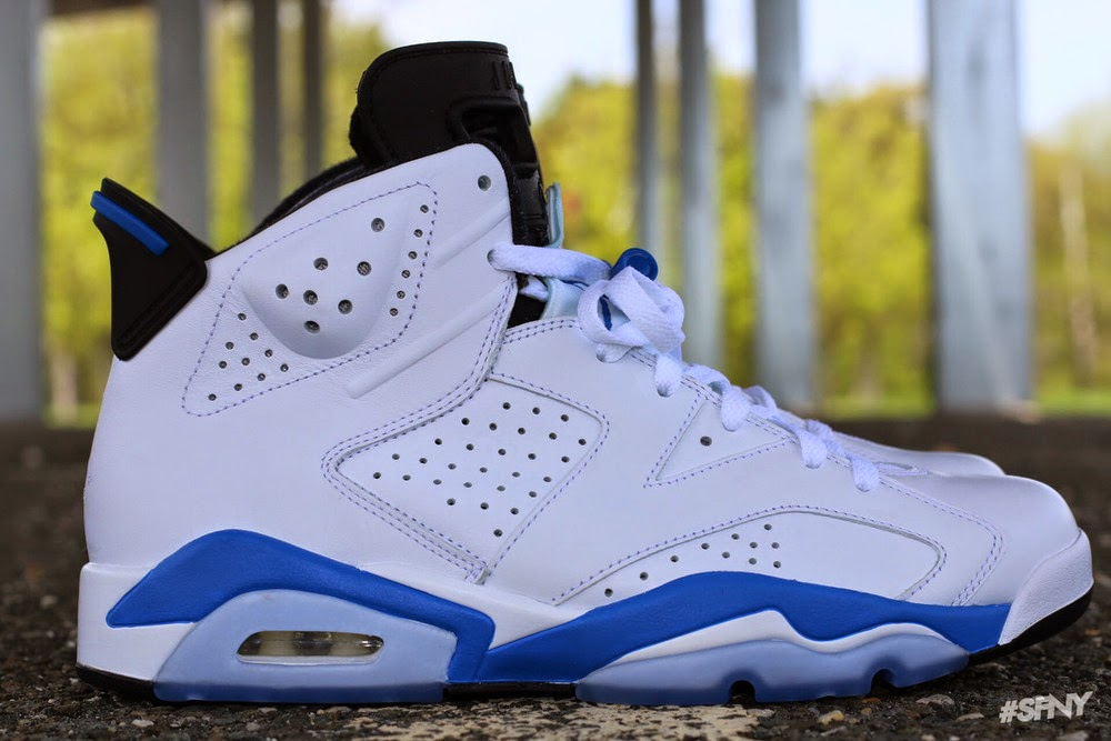 08e3f5f34561 Air Jordan 6 Retro White Sport Blue-Black 384664-107 August 30