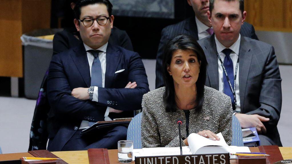 Embajadora de los Estados Unidos ante las Naciones Unidas, Nikki Haley