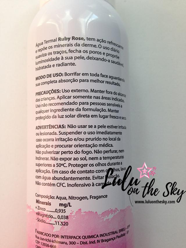 Água Termal Fragrância Coco - Ruby Rose Cosméticos