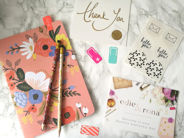 Edie & Rona Monthly Stationery Box August 2017