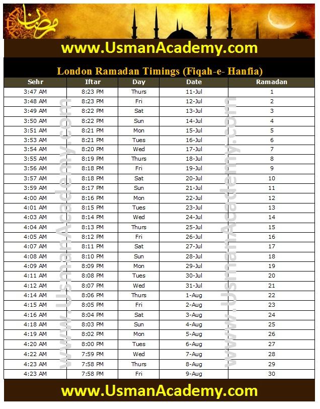Uk Ramadan Timings 2015 Calendar Uk Ramazan Sehar O Iftar