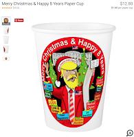 Trump paper cup
