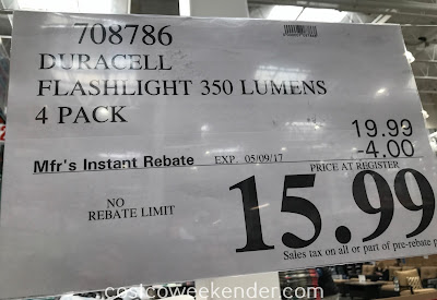Deal for the Duracell Durabeam Ultra LED Flashlight (4 pack) at Costco