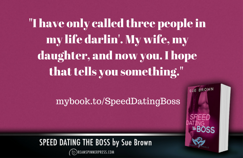 sue brown speed dating the boss