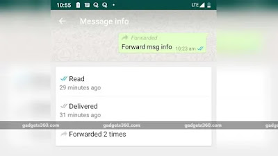 WhatsApp Forwarding info