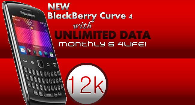 Get New BlackBerry Curve 4 with Unlimited Data for Life: ArykDEALS