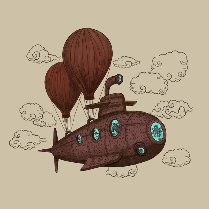 10-Hot-air-Balloons-and-Submarine-The-Fan-Brothers-Surreal-Illustrations-www-designstack-co