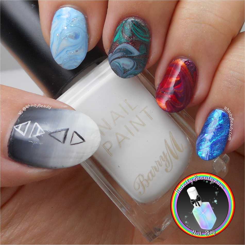 Drag Marble Nail Art | IthinityBeauty.com Nail Art Blog