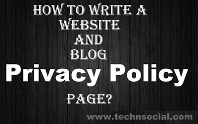 how to Create Privacy Policy pager for blogger 2019, blogger ke liye privacy policy page kaise banaye