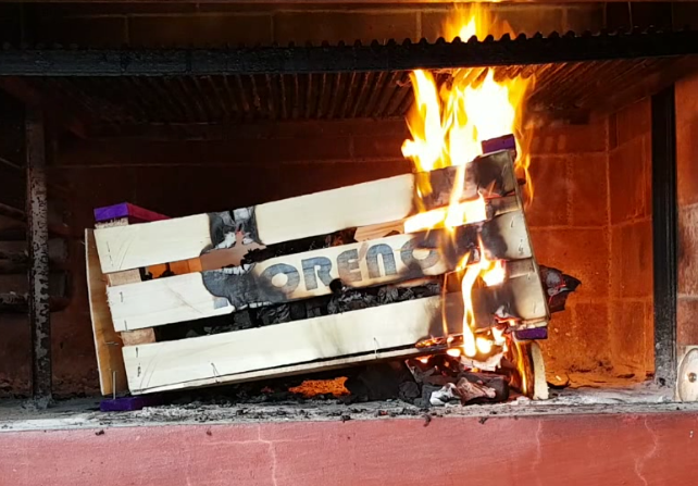 fire parrilla fruit crate