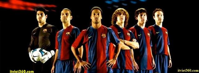 Ảnh bìa Facebook bóng đá - Cover FB Football timeline, Team Barca