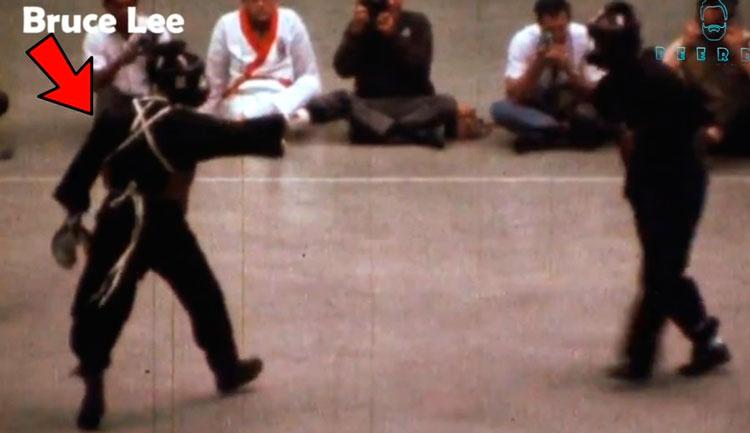"""Luta """"real"""" do ator e Bruce Lee - Foto: Reprodução"""