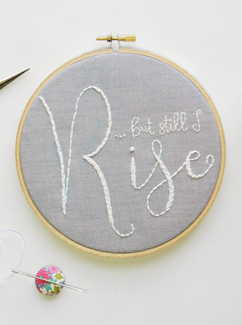 hoop art but still I rise quote