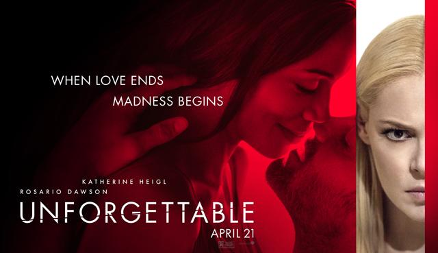 Unforgettable Movie giveaway, Unforgettable release on DVD, Unforgettable with Heigl, Unforgettable movie synopsis, Unforgettable movie photos