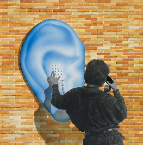 Oreille, téléphone, Architecture Sculpture, Guy Rottier