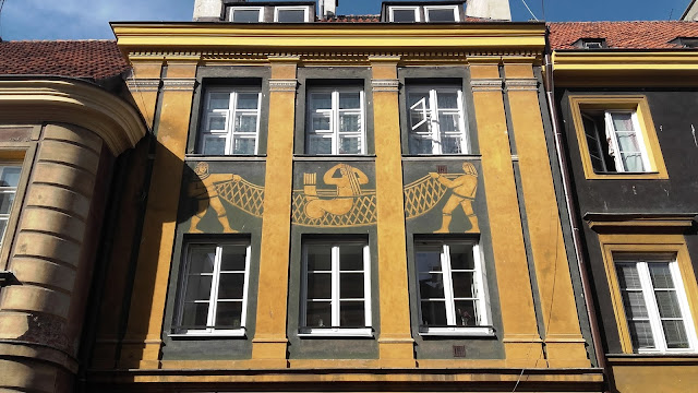 Painting on a building in Warsaw city center