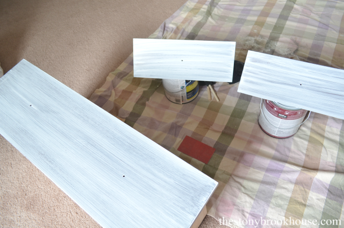 Primed drawer fronts of dresser