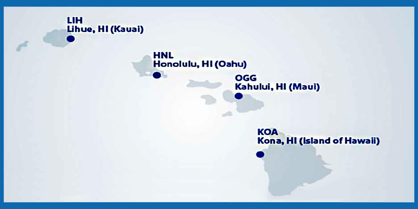 southwest will initially serve these four airports in hawaii