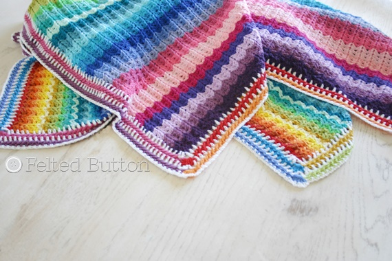 Illuminations Blanket Crochet Pattern by Susan Carlson of Felted Button