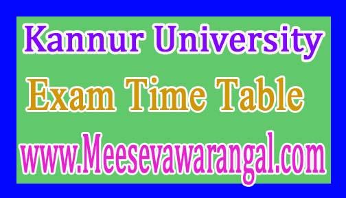 Kannur University BA LLB Xth Sem Regular / Supply Apr 2016 Exam Time Table