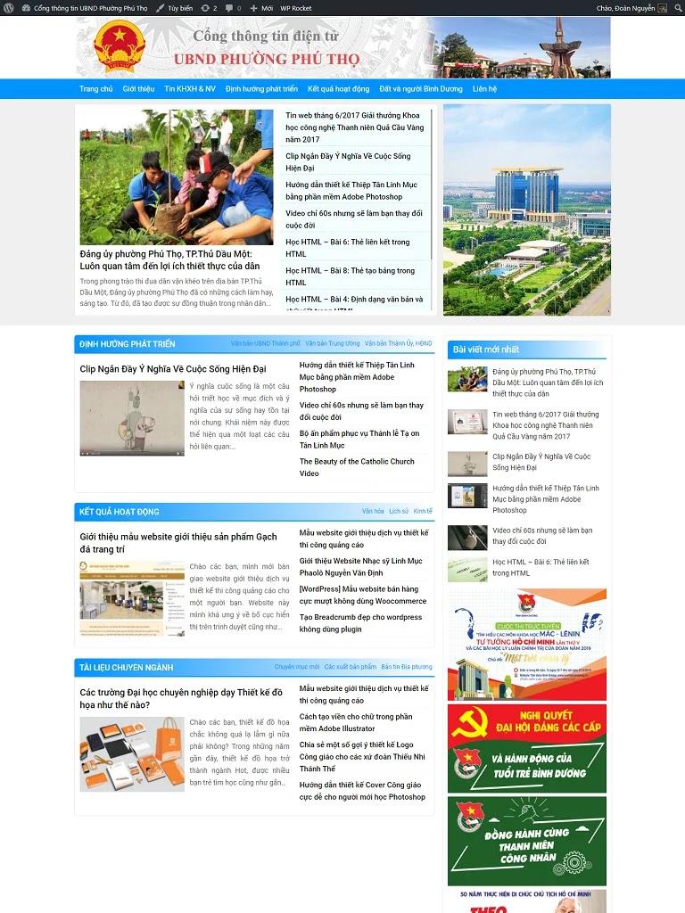 Mẫu Website tin tức cơ quan, doanh nghiệp 93