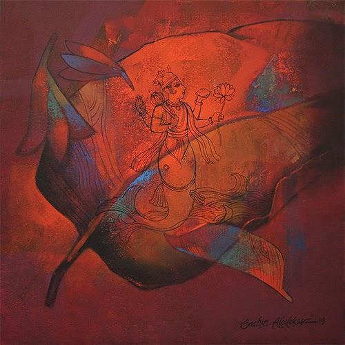 """18th Feb. -1st Mar. 2019: Pradarshak presents ""Varna Sutra"" acrylic on canvas paintings by Sachin Akalekar"""