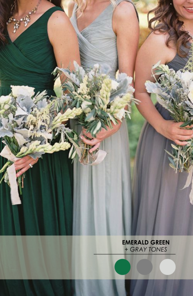 5 winter wedding color palettes the perfect palette