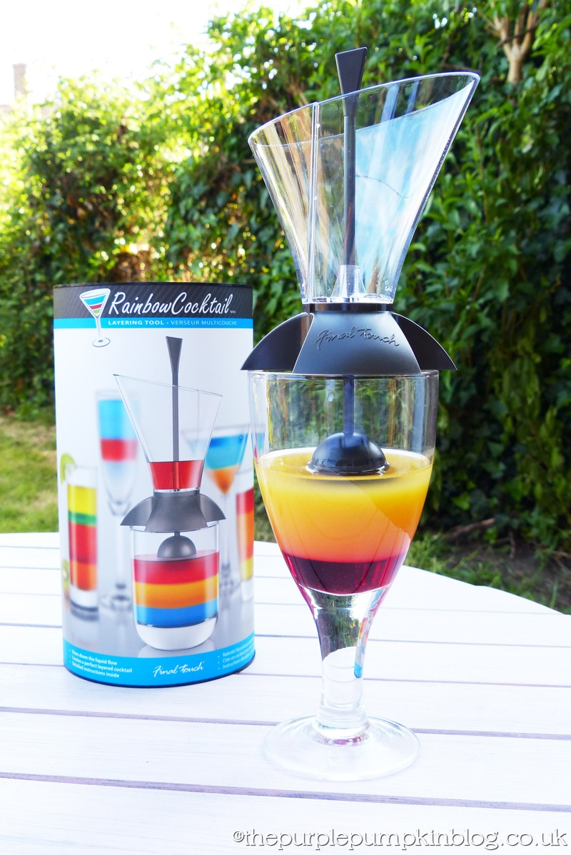 Easy To Make Layered Cocktails with Rainbow Cocktail™