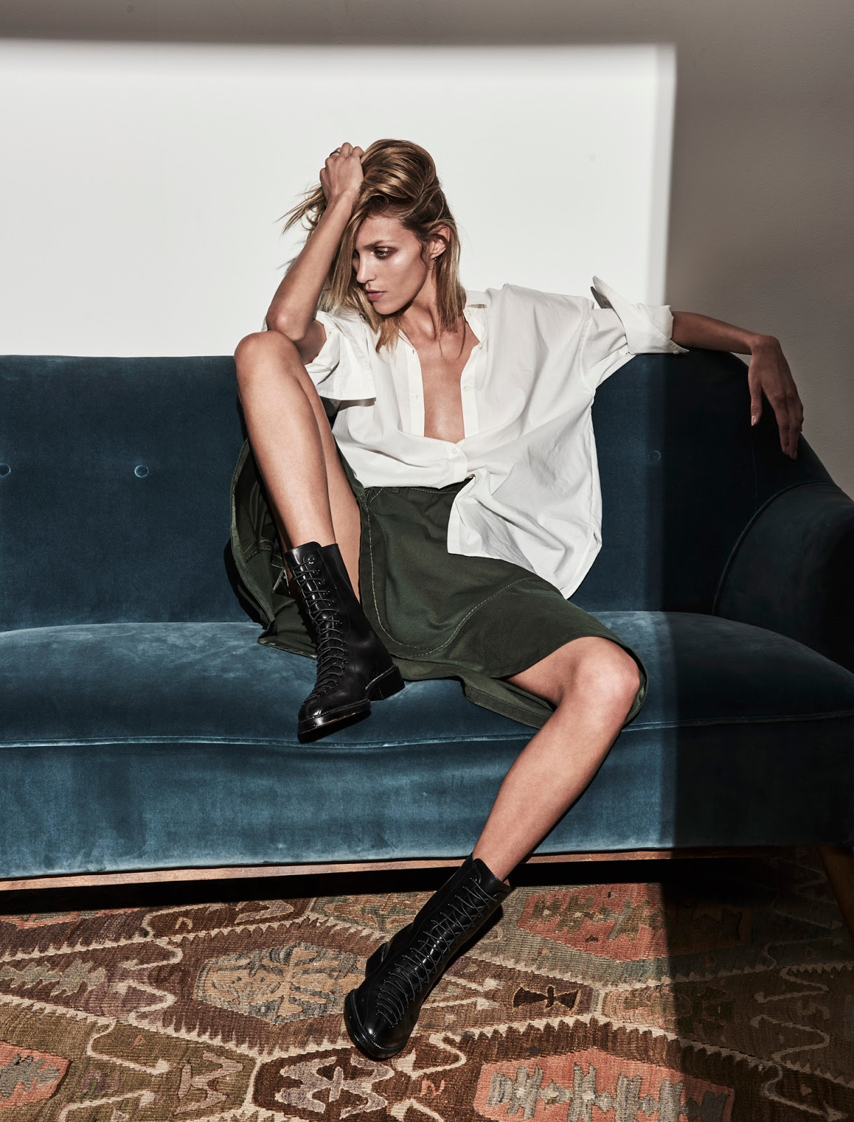 Anja Rubik in 'The Business Model' for The Edit June 2016