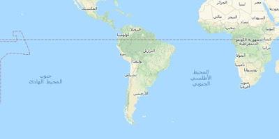 خريطة قارة أمريكا الجنوبية South America Map