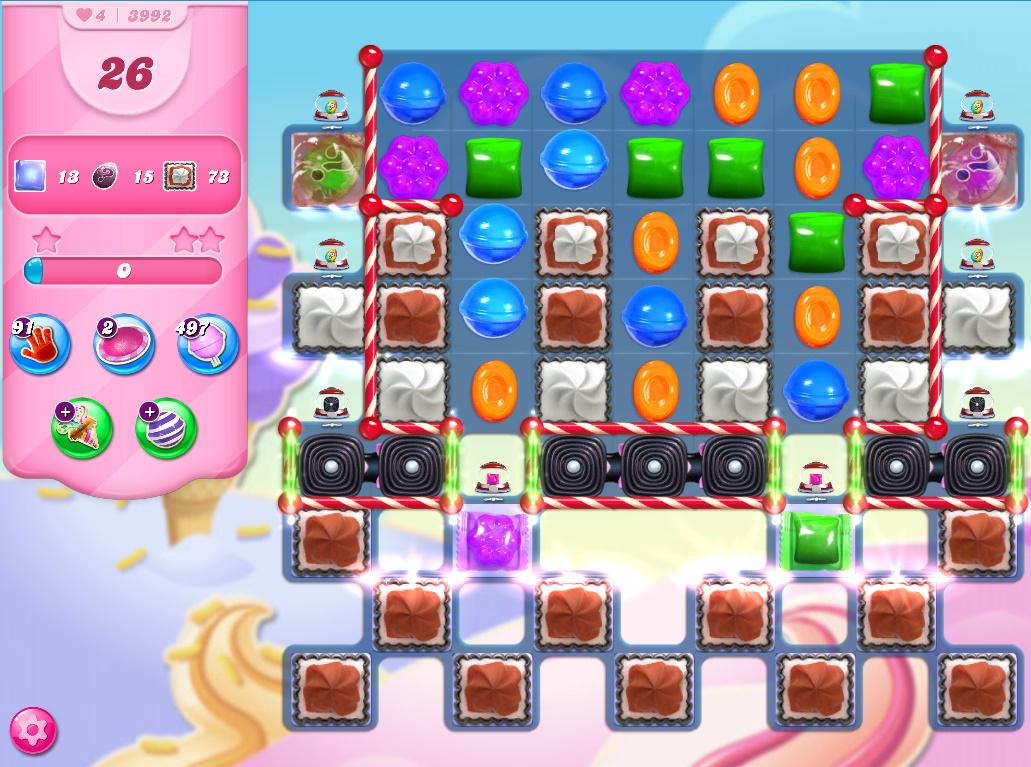 Candy Crush Saga level 3992