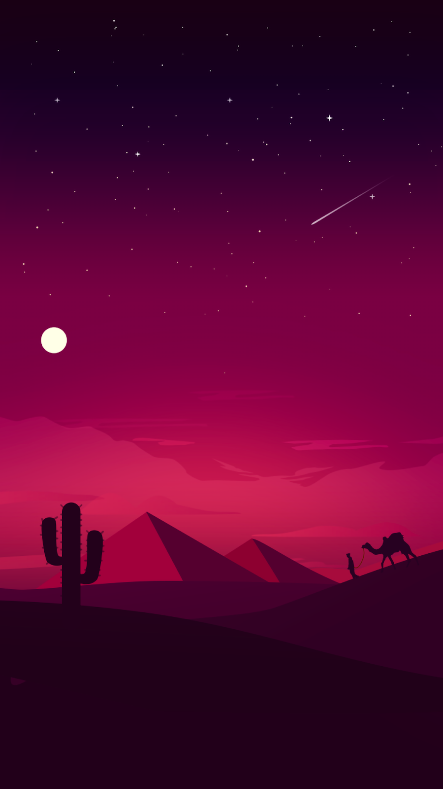 desert minimalist red purple vertical wallpaper in 1080p for mobile phone